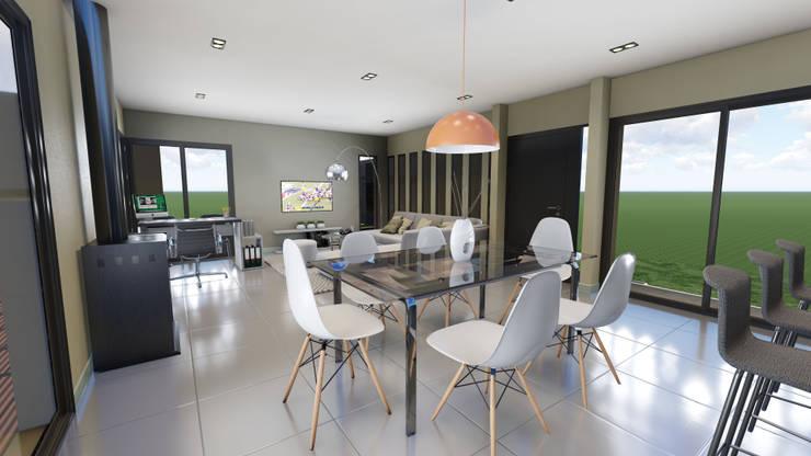 Estar - Comedor : Comedores de estilo  por mgt_Estudio de  Arquitectura + Diseño