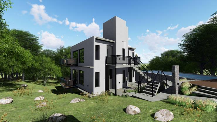 Casas de estilo  por mgt_Estudio de  Arquitectura + Diseño, Moderno