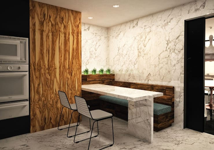 Comedor de diario:  de estilo  por Fernando Borda Arquitectura de Interiores