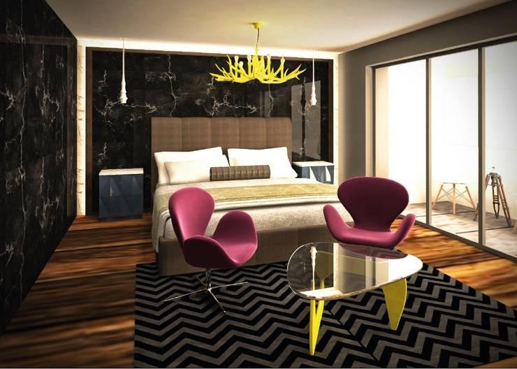Dormitorio principal:  de estilo  por Fernando Borda Arquitectura de Interiores