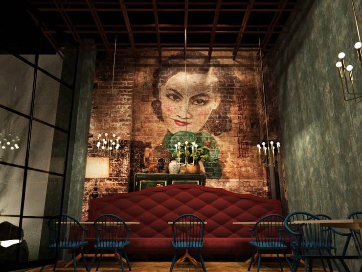 Salón principal:  de estilo  por Fernando Borda Arquitectura de Interiores,