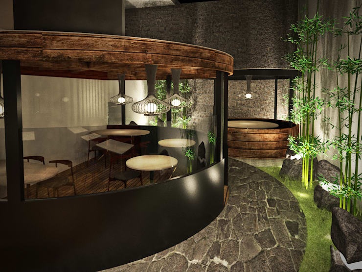 Terraza / patio:  de estilo  por Fernando Borda Arquitectura de Interiores,