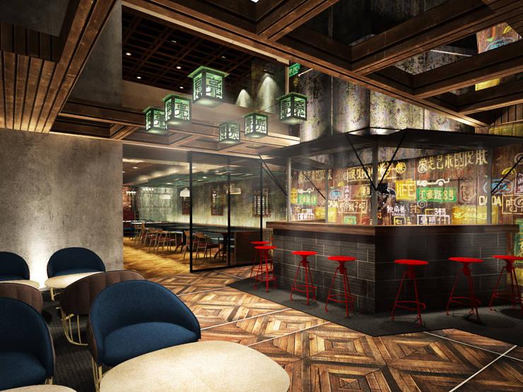 Bar exterior:  de estilo  por Fernando Borda Arquitectura de Interiores,