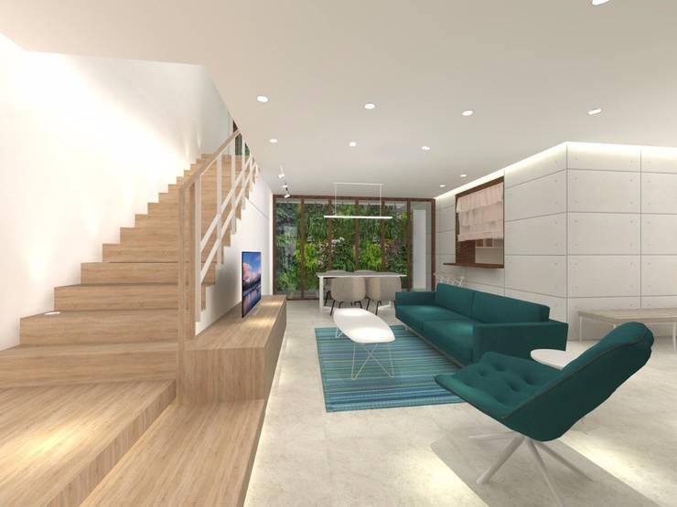 Rumah tinggal di kedoya:  Ruang Keluarga by PT. Giat Solid Mandiri