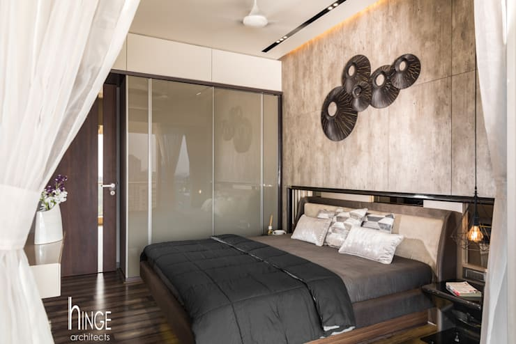 Interior: modern Bedroom by Hinge architects