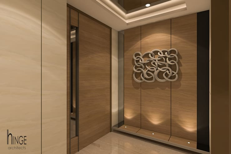 Interior:  Dressing room by Hinge architects ,Modern