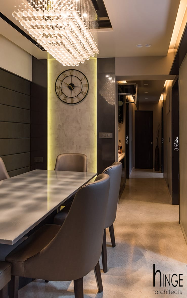 Interior:  Dining room by Hinge architects ,Modern