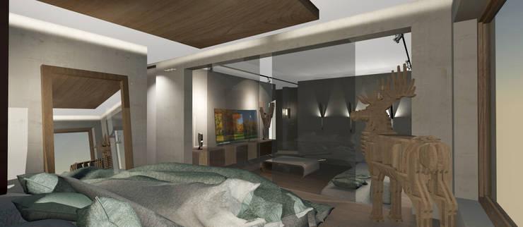 Dormitorio Abierto y Living: Livings de estilo  por CB Luxus Inmobilien