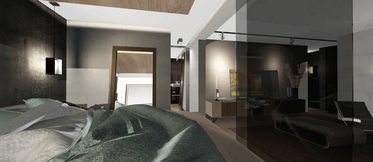 Dormitorio y Vestidor: Dormitorios de estilo  por CB Luxus Inmobilien
