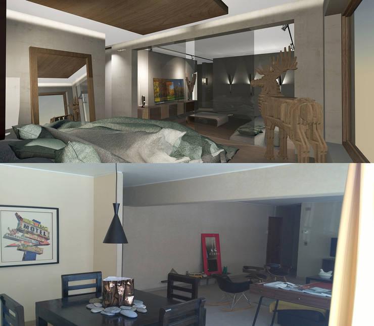 Antes y Después 1: Livings de estilo  por CB Luxus Inmobilien