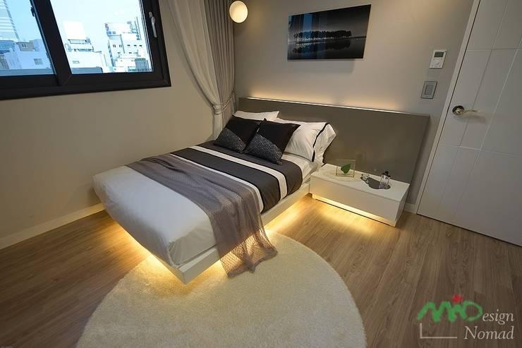 부산 분양 모델하우스 세팅, 북유럽 스타일 - 노마드디자인: 노마드디자인 / Nomad design의  침실