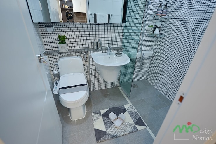 부산 분양 모델하우스 세팅, 북유럽 스타일 - 노마드디자인: 노마드디자인 / Nomad design의  욕실