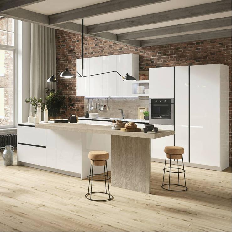 Tủ bếp Acrylic PMA:  Garages & sheds by Cổ phần xnk PMA Hà Nội