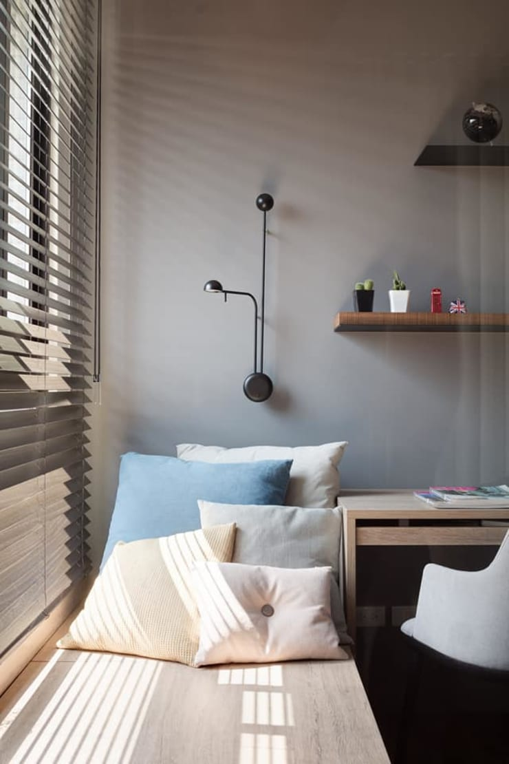 鄧醫師的時光慢速宅:  臥室 by Fertility Design 豐聚空間設計
