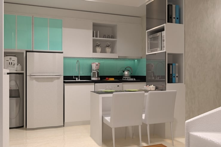 kitchen area:  Kitchen by Cendana Living
