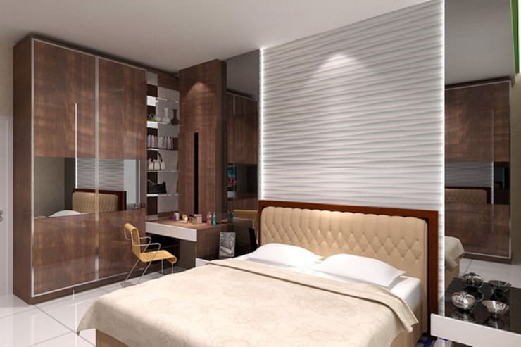 masterbedroom:  Bedroom by Cendana Living