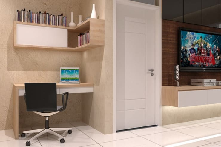 study desk:  Study/office by Cendana Living