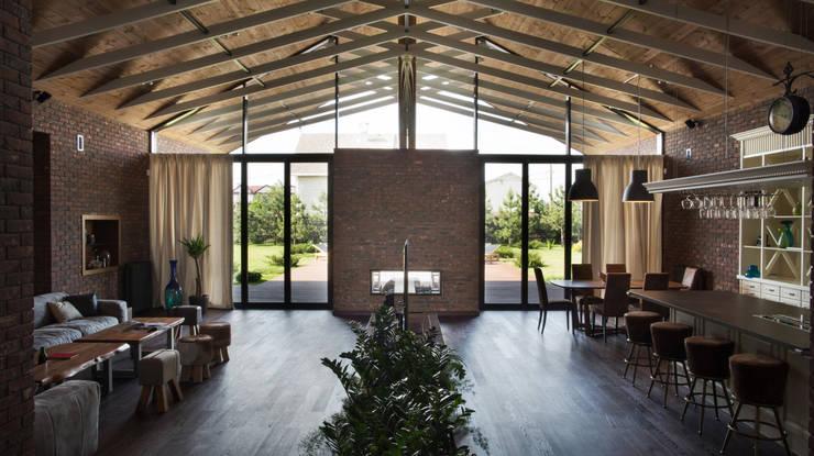 Гостиная вдоме: Гостиная в . Автор – Архитектурная студия Чадо