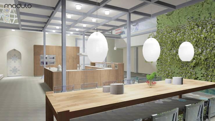 LOFT inspirowany stylem marokańskim.: styl , w kategorii Jadalnia zaprojektowany przez MODULO Pracownia architektury wnętrz