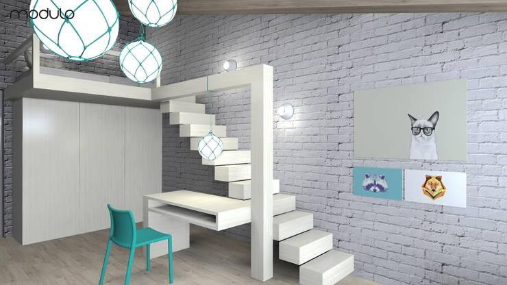 DOM w górach: styl , w kategorii Pokój dziecięcy zaprojektowany przez MODULO Pracownia architektury wnętrz,Skandynawski