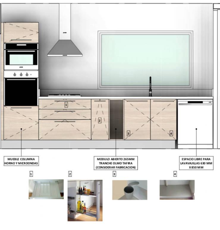 Diseño Arquitectura Cocina Premium Casa Lt37:  de estilo  por Territorio Arquitectura y Construccion