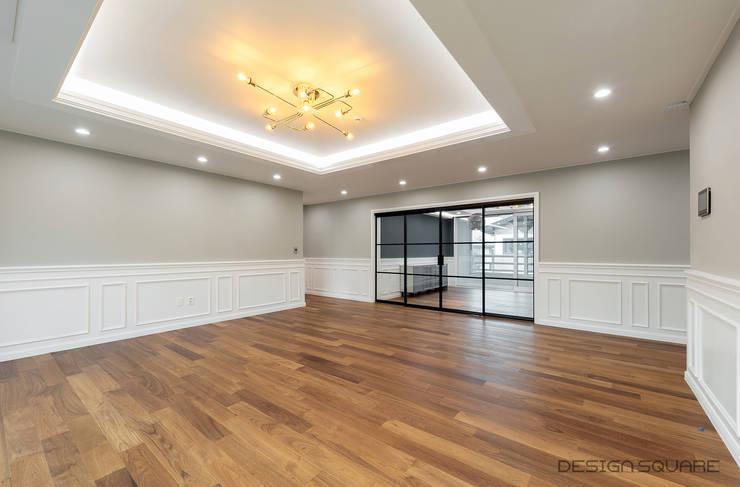 Living room by 디자인스퀘어
