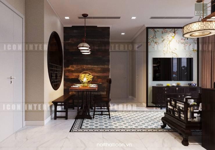 Cảm hứng Đông Dương trong thiết kế nội thất căn hộ Vinhomes Golden River:  Phòng ăn by ICON INTERIOR