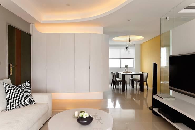 用色彩說故事:一個人的豪宅新生活:  餐廳 by 禾光室內裝修設計 ─ Her Guang Design