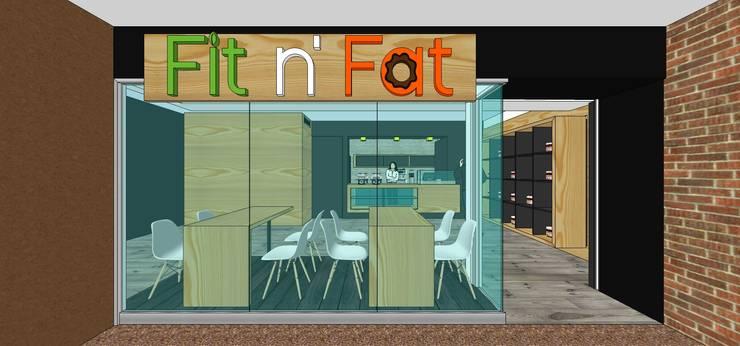 Fachada del local: Restaurantes de estilo  por MARATEA Estudio