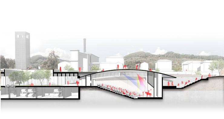 Corte de Lúdico Arquitectos Moderno
