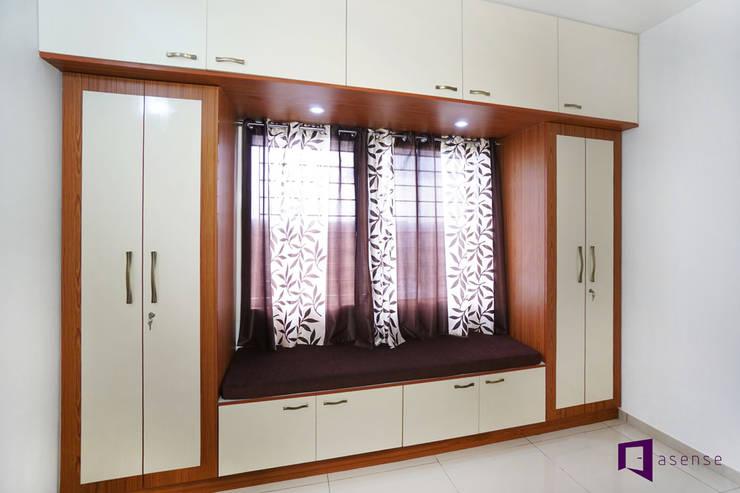 Ajay & Yogita's apartment in Sobha dream Acres,Varthur,Bangalore:  Bedroom by Asense