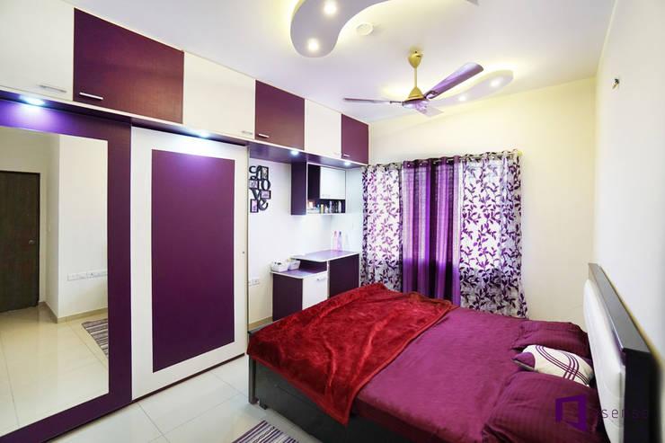 Ajay & Yogita's apartment in Sobha dream Acres,Varthur,Bangalore:  Bedroom by Asense,Minimalist
