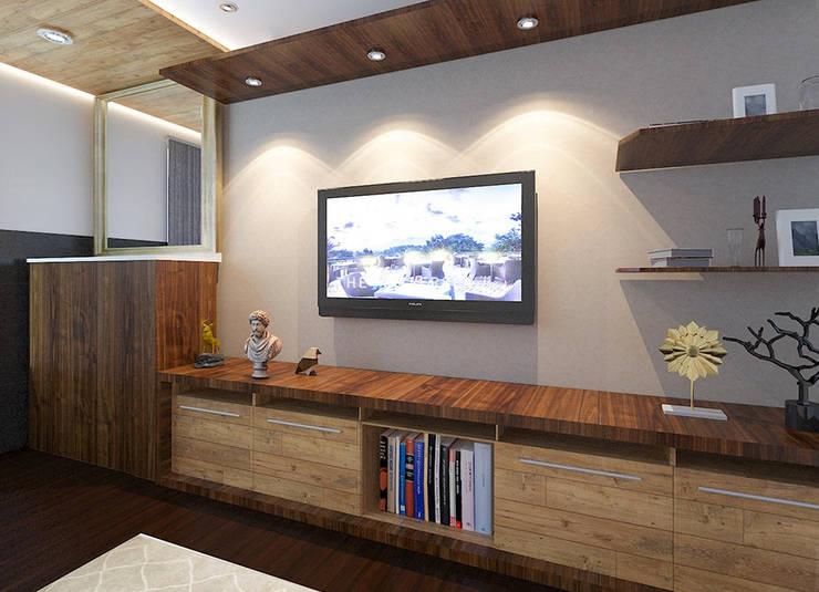 LCD wall panel: modern  by Ruhani Dawar Designs,Modern Solid Wood Multicolored