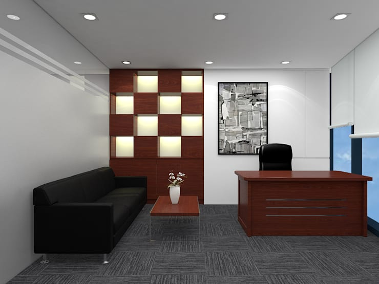 Chamvit Tower Office:   by Forestland Architecture and Interior Design JSC