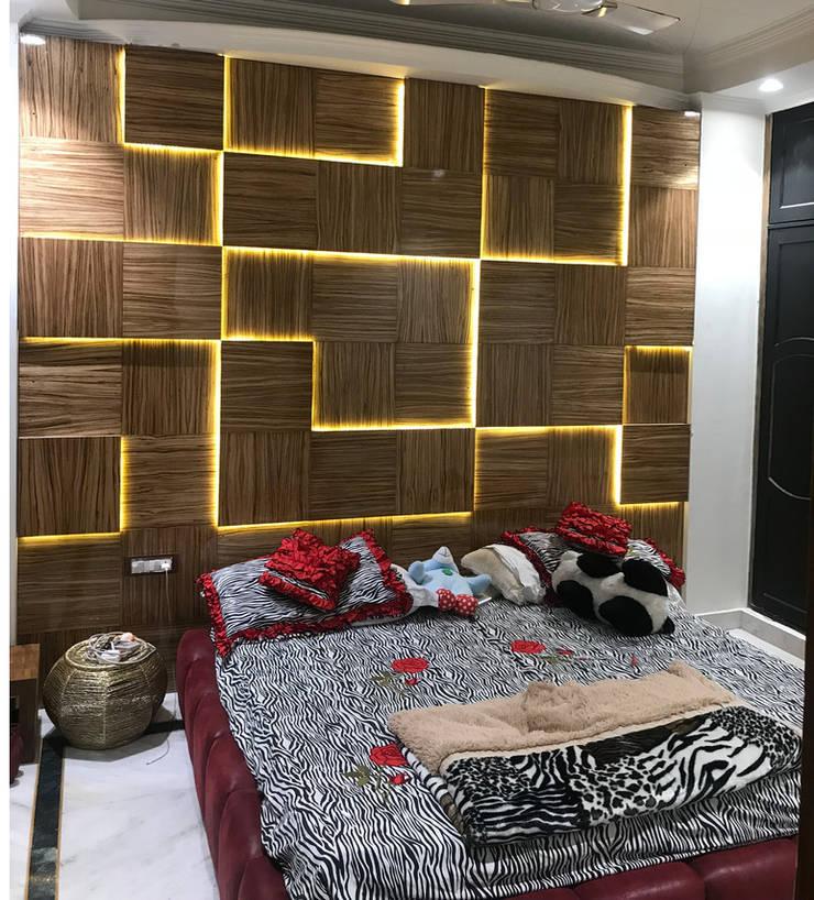 Daughters Room: modern  by Ruhani Dawar Designs,Modern Wood Wood effect