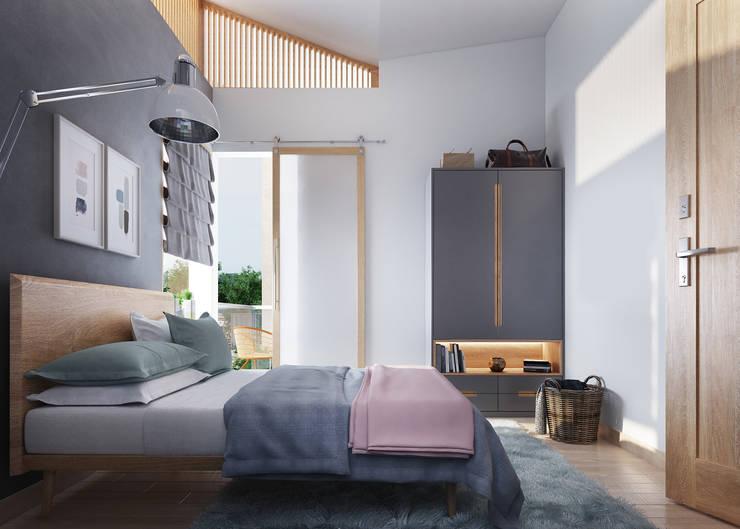 Scandinavian style bedroom by Studio Gritt Scandinavian