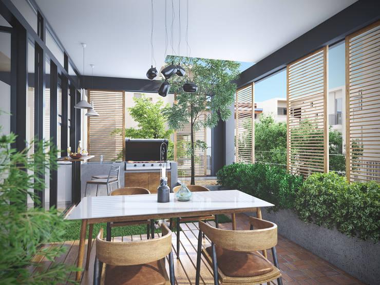 Scandinavian style balcony, porch & terrace by Studio Gritt Scandinavian