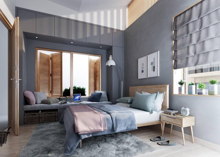 House 516: scandinavian Bedroom by Studio Gritt