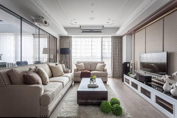 大器:  客廳 by 鼎士達室內裝修企劃