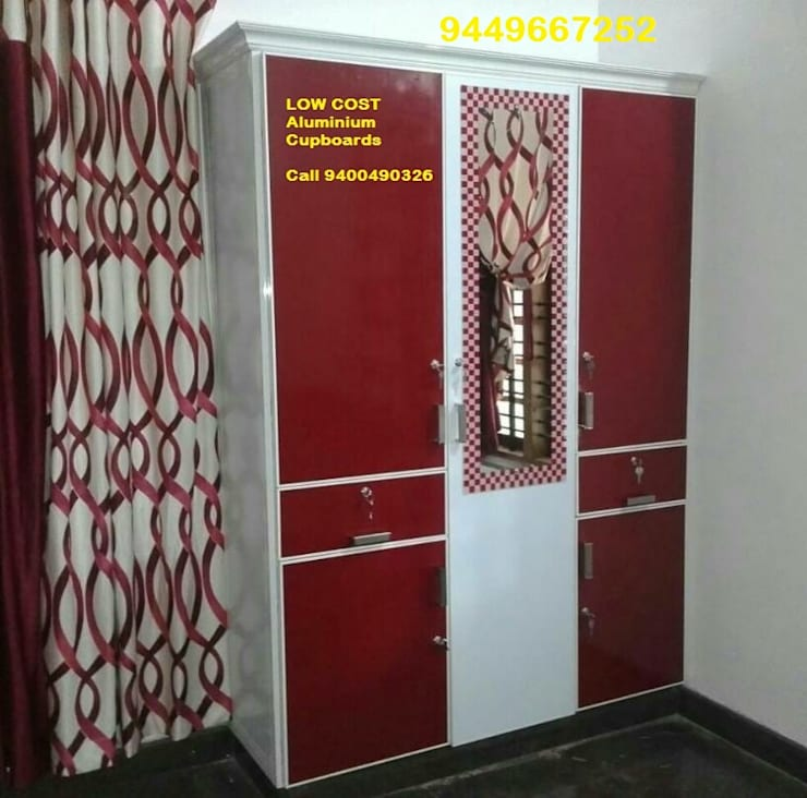 STAINLESS STEEL KITCHEN finish in ALUMINIUM KITCHEn @ LOW COST call 9400490326: classic  by BANGALORE ALUMINIUM Kitchen- MODULAR KITCHEN BANGALORE & Home INTERORS ALUMINIUM KITCHEN BANGALORE,Classic