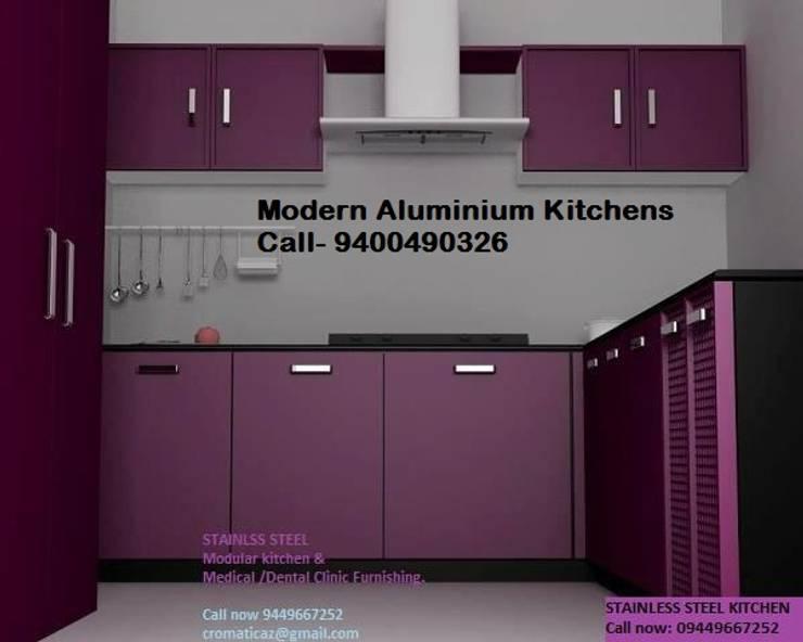 ALUMINIUM MODULAR KITCHEN BANGALORE 9400490326: modern  by BANGALORE ALUMINIUM Kitchen- MODULAR KITCHEN BANGALORE & Home INTERORS ALUMINIUM KITCHEN BANGALORE,Modern