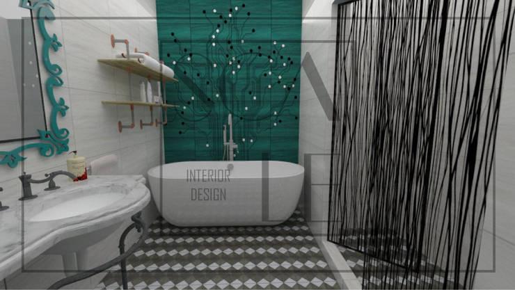 Servicios higiénicos de habitación principal: Baños de estilo  por Scale Interior Design,