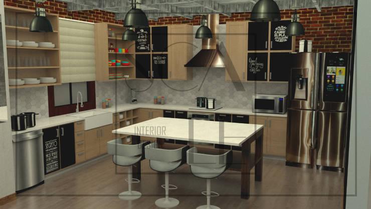 Cocina Industrial Cocinas de estilo industrial de Scale Interior Design Industrial