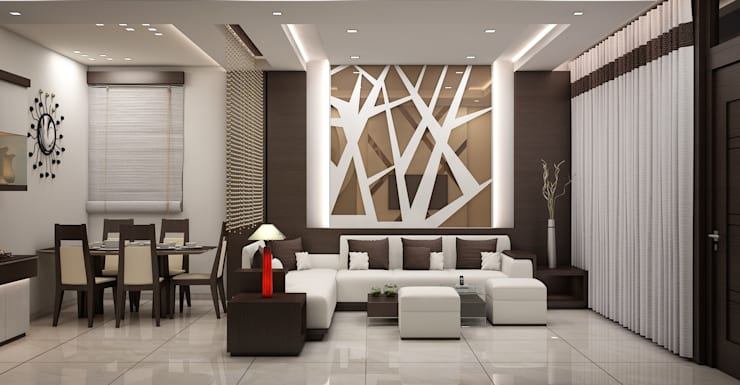 Interior:  Living room by DV Interiors,Modern