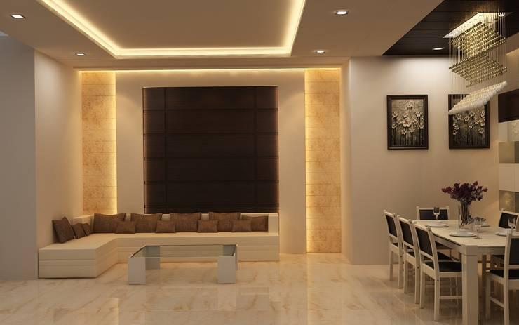 Interior:  Corridor & hallway by DV Interiors,Modern