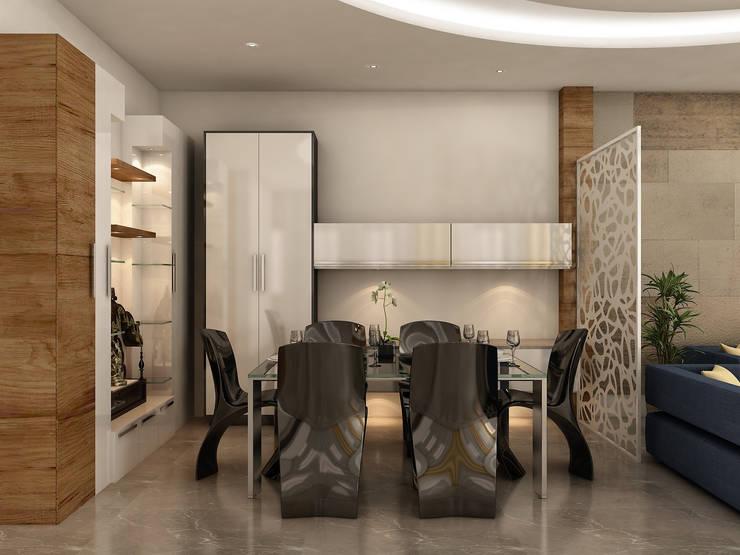 Interior:  Dining room by DV Interiors,Modern