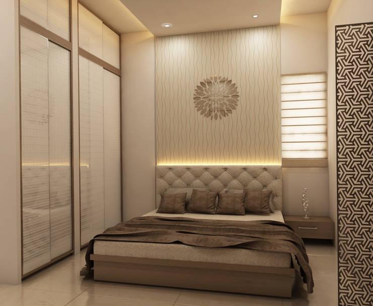 Interior:  Bedroom by DV Interiors,Modern