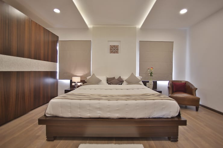Tranquil: modern Bedroom by Architecture Continuous