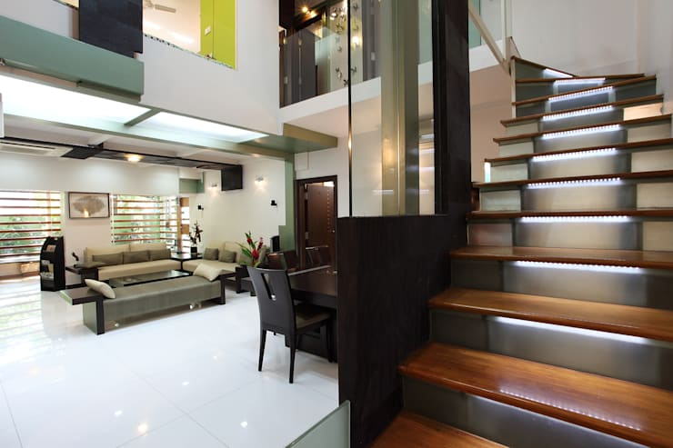 Doshi Residence:  Corridor & hallway by Architecture Continuous