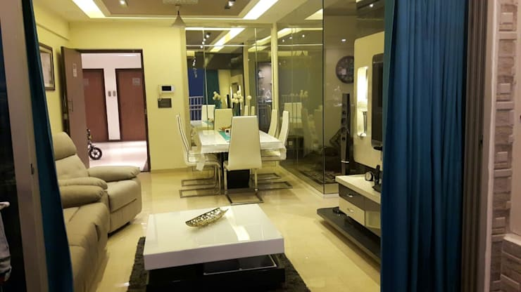 3 bhk home at Lodha palava Dombivli : classic Living room by Service Angel Creative Designs